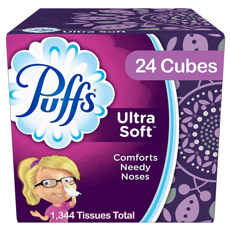Puffs Ultra Soft & Strong Facial Tissues, 24 Cubes, 56 Tissues per Cube by Puffs B003ZUQ7VS
