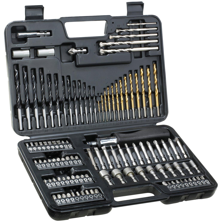 drill bit set. dewalt de0109 set of 109 screw bits and drill bit tips: amazon.co.uk: diy \u0026 tools
