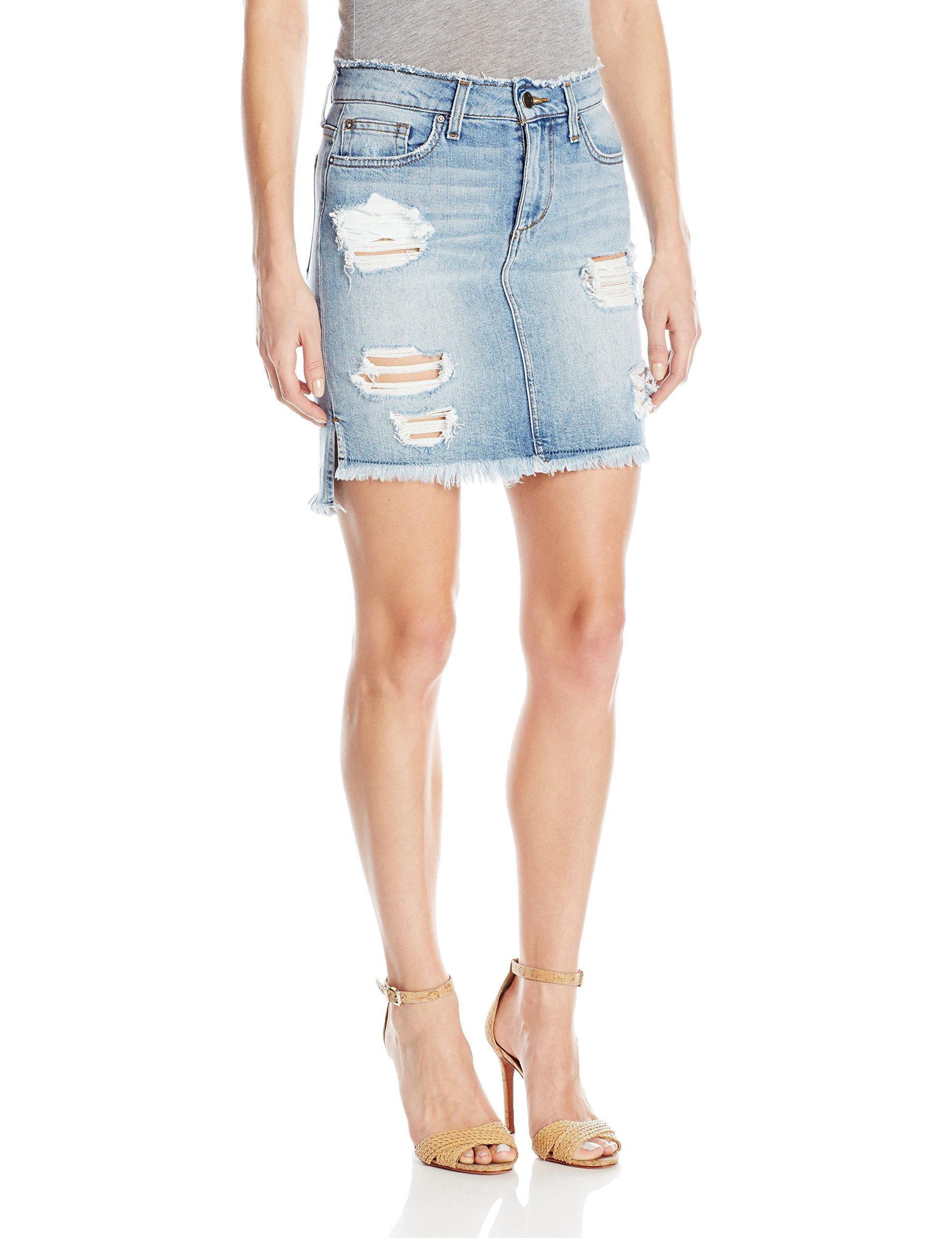 Joe's Jeans Women's High Low Pencil Jean Skirt, Tyrie, 25 by Joe's Jeans