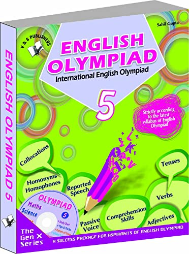 International English Olympiad - Class 5  with CD: Essential Principles with Examples; Mcqs and Solutions; Model Test Papers