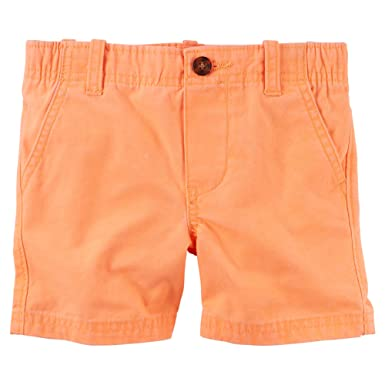 171e36b04 Amazon.com  Carter s Baby Boys  Flat Front Shorts-Orange  Clothing