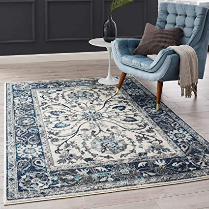 Amazon Com Modway Samira Distressed Vintage Floral Persian