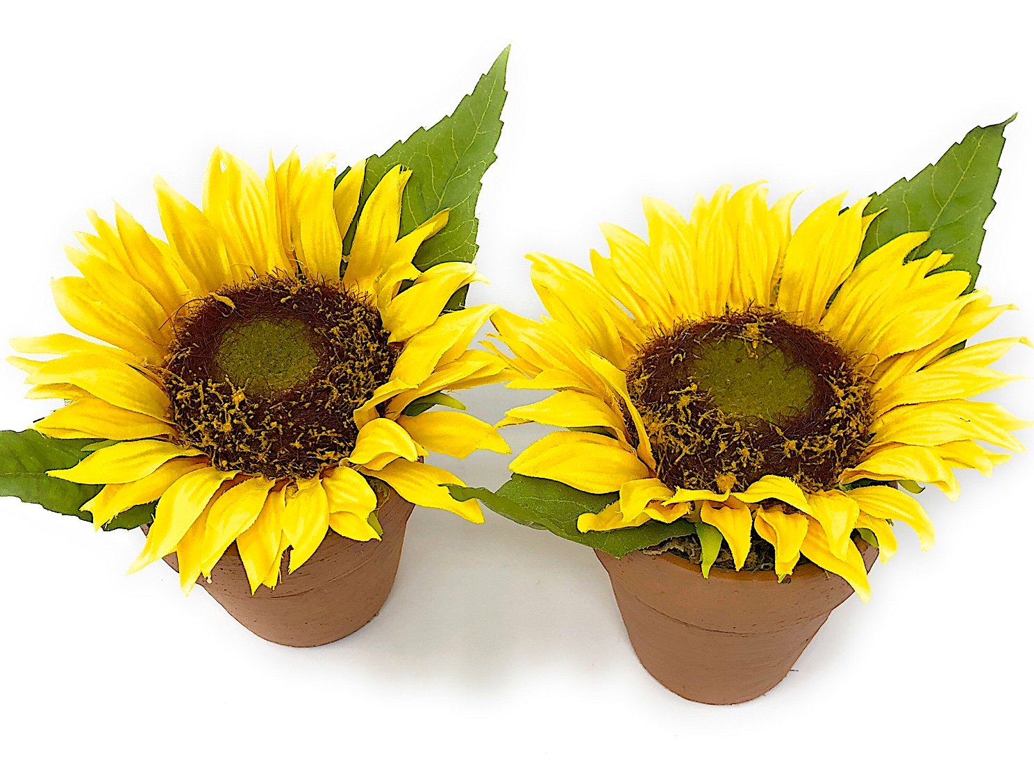 Melrose Int Sunflower Decor Set of 2 Potted Flowers Artificial Faux on sunflower bathroom set, sunflower bedroom set, kitchen bar set, sunflower dishes set, sunflower art set, sunflower bedding set, sunflower linens set, sunflower dinnerware set,