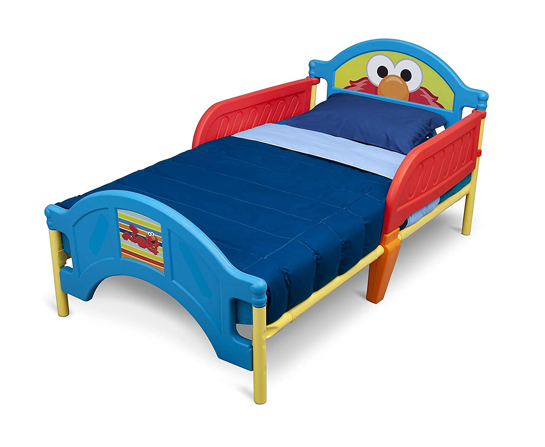 Amazon.com : Delta Children Plastic Toddler Bed, Sesame Street : Elmo  Toddle Bed : Baby