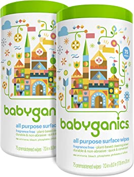 2-Pack Babyganics All Purpose Surface Wipes Canisters