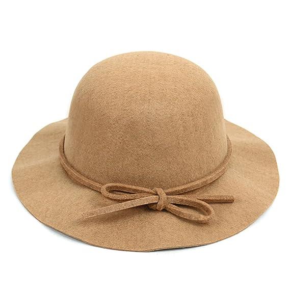 d6ab64654dbec5 BG Women's Polyester Felt Floppy Short Brim Bowknot Hat at Amazon Women's  Clothing store: