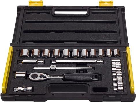Stanley 1-89-035 - Juego de llaves de vaso métricas (24 piezas): Amazon.es: Bricolaje y herramientas