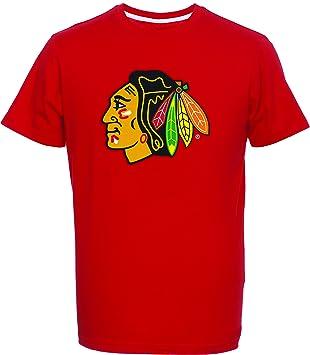 Majestic NHL Kinder Youth T-Shirt Chicago Blackhawks rot Logo