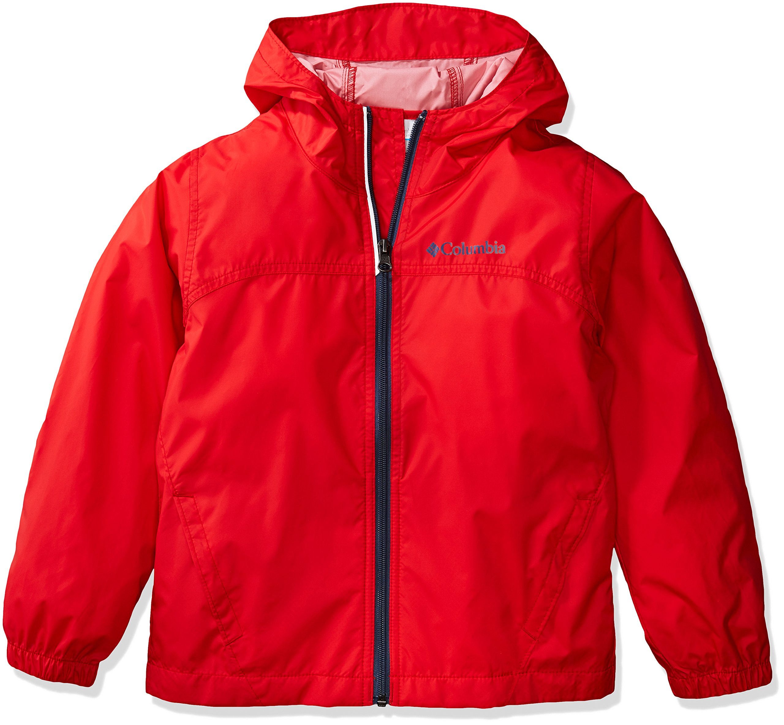 Columbia Boys' Big' Glennaker Rain Jacket, Red Spark, Large