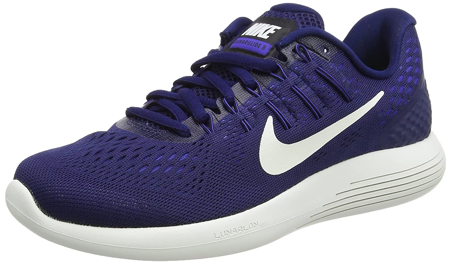 NIKE Women's Lunarglide 8 B01H5WPSP2 Medium / 6.5 B(M) US|Binary Blue/Summit White-black