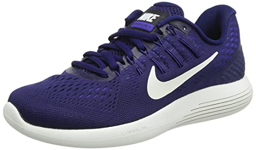 new style 71552 bd85a Nike Wmns Lunarglide 8, Sneakers para Mujer, Azul (Binary Summit White Black Paramount  Blue), 37.5 EU  Amazon.es  Zapatos y complementos
