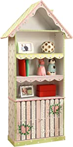 Fantasy Fields - Cracked Rose Thematic Kids Wooden Bookcase with Storage | Imagination Inspiring Hand Crafted & Hand Painted Details Non-Toxic, Lead Free Water-based Paint