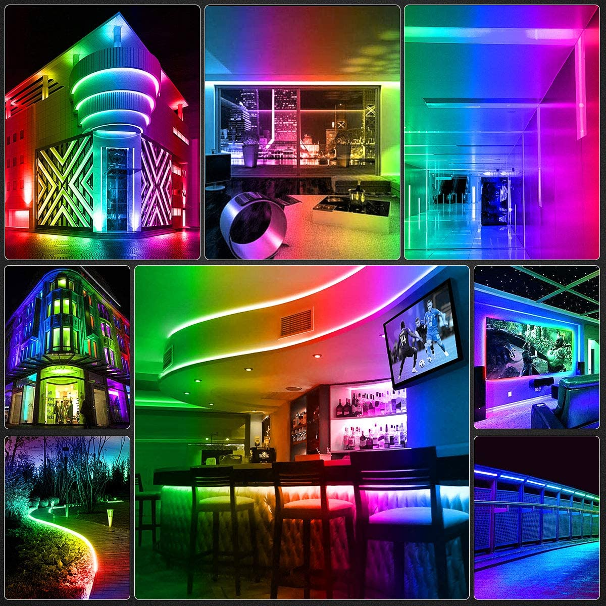 Support Arduino Raspberry Pi Arkare Addressable RGB LED Strip WS2812B Programmable Dream Color Digital LED Pixels Ribbon Light 3.3ft 144 LEDs 5V DC Waterproof IP67 Black FPCB No Power//Controller