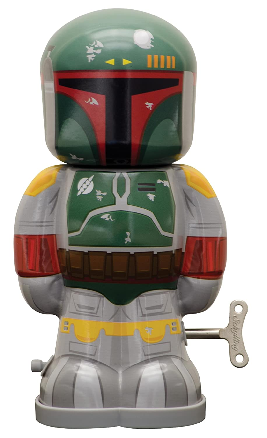 Schylling L'Sc-swwub Star Wars Boba Fett Wind Up Figure TOBAR