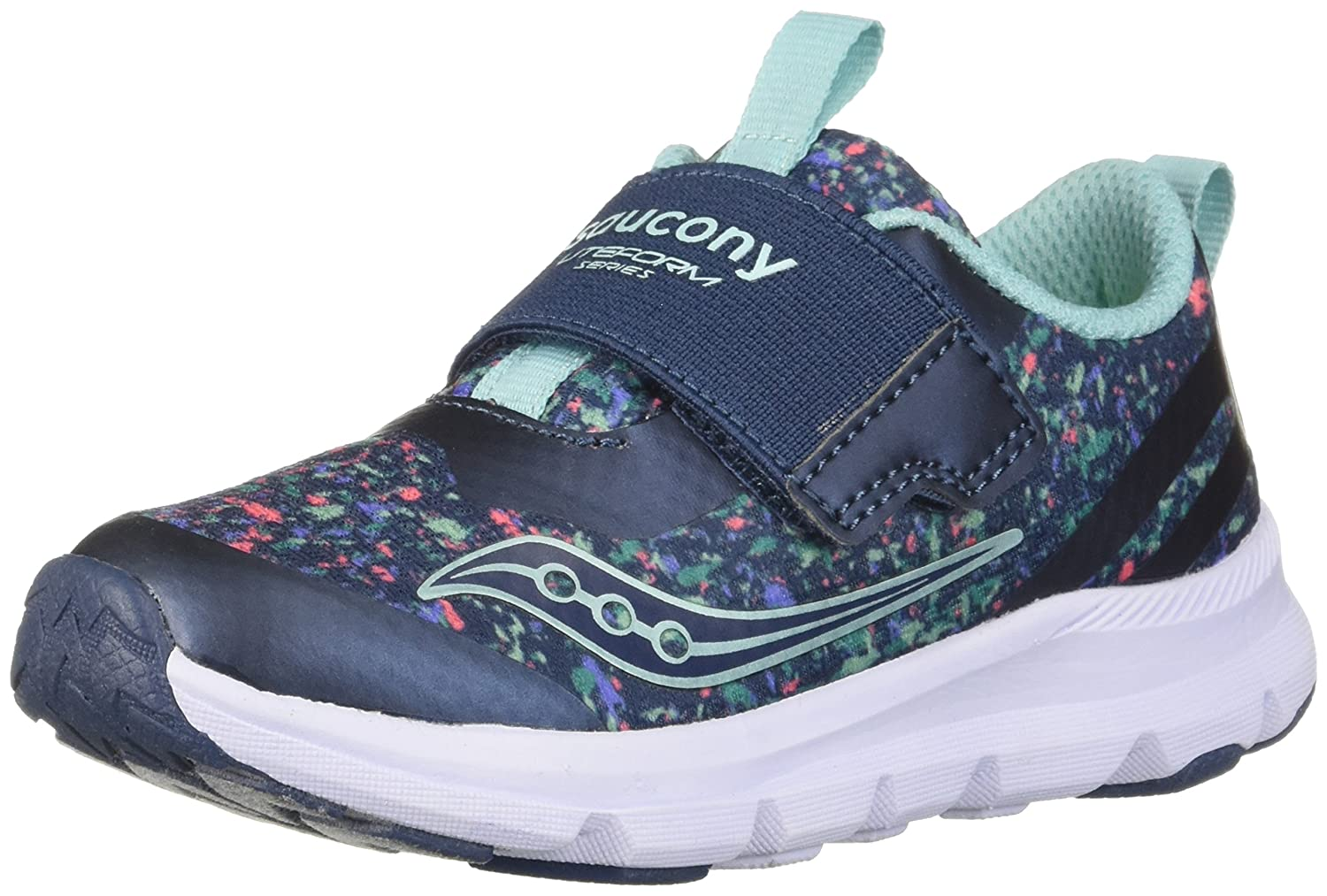 Saucony ユニセックスキッズ ボーイズ ガールズ B0785738PK 7.5 Wide US Toddler|Navy/Print Navy/Print 7.5 Wide US Toddler