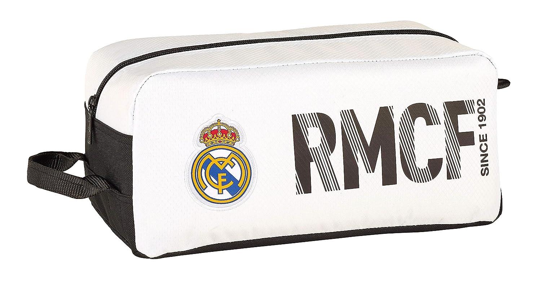 Real Madrid 811854440 2018 Bolsa para Zapatos 34 cm, Blanco