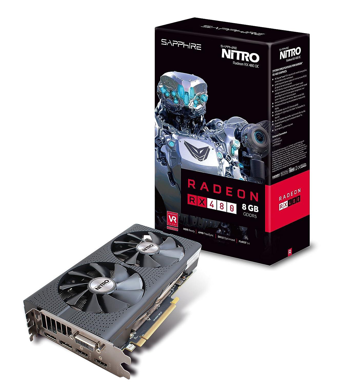 Sapphire Radeon Nitro RX 480 8 GB GDDR5 Dual HDMI/DVI-D/Dual ...