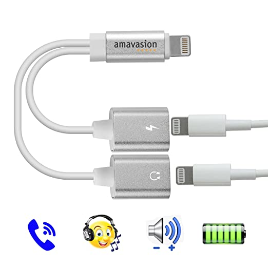 2 opinioni per Lightning audio adattatore per caricabatterie, Amavasion doppia porta Lightning