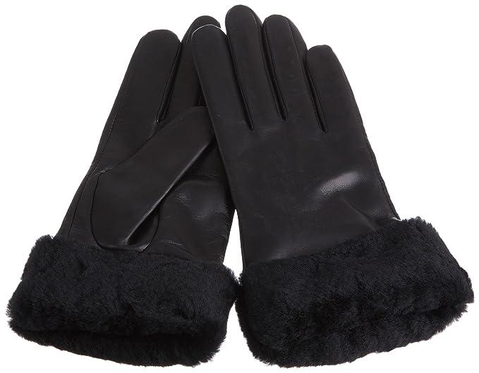 7fd22029ca0d7f UGG Damen Handschuhe W's Classic Leather Shorty Schwarz (Black), ...
