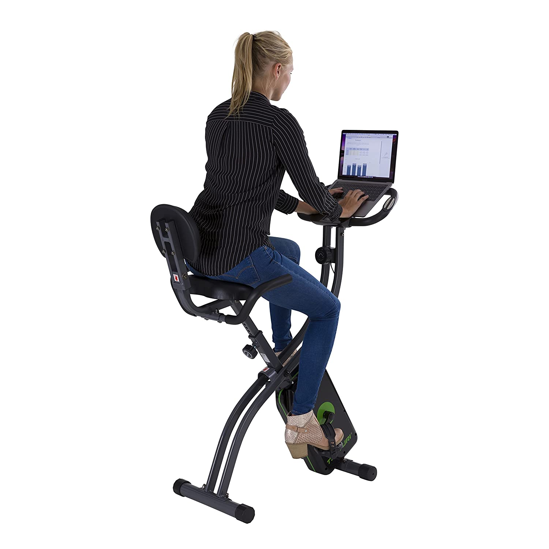 Fitnessfahrrad Schwarz Tablethalterung und LCD-Bildschirmanzeige hometrainer fahrrad trainer mit R/ückenlehne Tunturi Cardio Fit B25 X bike heimtrainer fahrrad klappbar