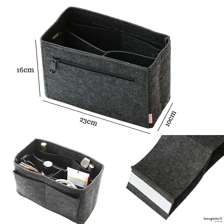 Classic Slash Taschenorganizer Filz Speedy Small f/ür Taschen ab 23cm Innenma/ß I Beige
