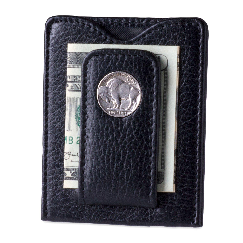 de216054a470 Buffalo Nickel Money Clip Credit Card Wallet (80B-P)