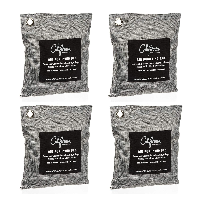 Bamboo Charcoal Air Purifying Bag (4 Pack), 200g Natural Air Purifying  Bags, Activated Charcoal Odor Eliminators, Car Air Purifier, Closet  Freshener,