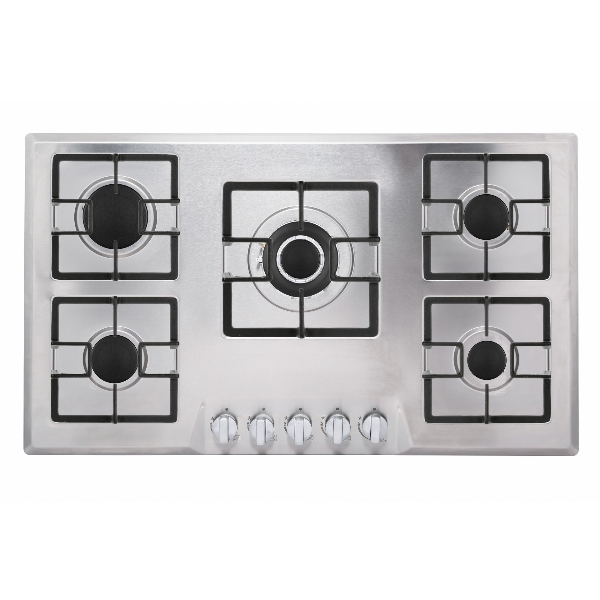 Empava 34'' Stainless Steel Built-in 5 Italy Sabaf Burners Stove Top Gas Cooktop EMPV-34GC5B90A by Empava (Image #3)