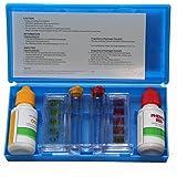 (bouteilles de test ph + cl) pour déterminer le ph et la teneur en chlore de votre piscine