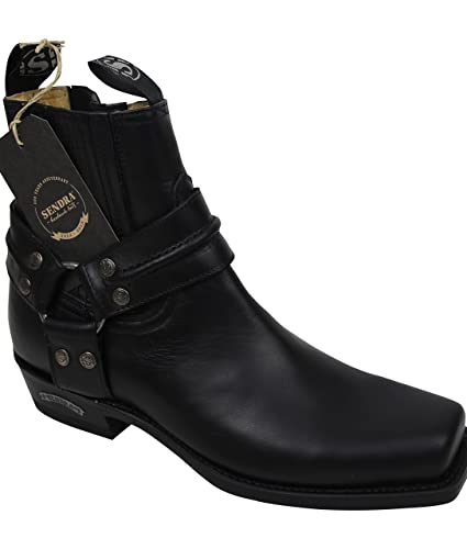 feaa60017f3 Sendra Cowboy Biker half boots 2746 in black with Roy Dunn´s boot polish  and Boot Jack