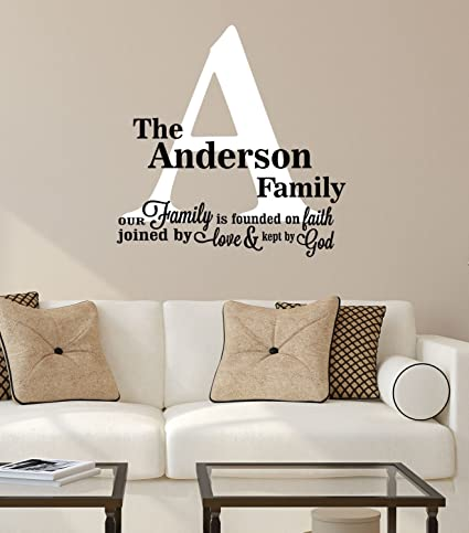 Amazon Com Family Quote Decals Founded On Faith Wall Decal