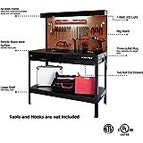 Garage Workbench With Light Wood Steel Work Bench Tools
