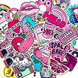 50 pcs Good Vibes Vinyl Waterproof Decal Stickers Variety Pack-Cute, Funny, Creative, Trendy-for Water Bottles, Hydroflasks, MacBooks, Helmets, Skateboard, Wall-for Teens, Girls, Kids, Adults