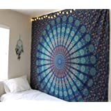 RAJRANG BRINGING RAJASTHAN TO YOU Tapestry Wall Hanging - Tapicería de la Mandala Hippie Gift Tapestries Floral Tapiz…