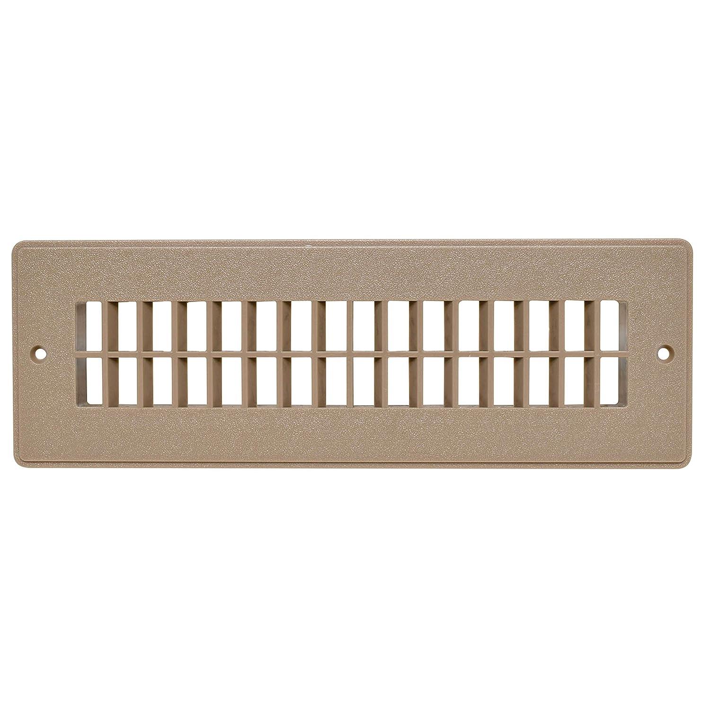 "Valterra A10-3365VP Light Brown Heat and A/C Floor Register with Damper (2-1/4"" x 10"")"