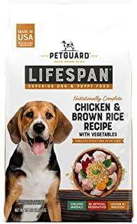 product image for PetGuard Lifespan Chicken & Brown Rice Recipe with Vegetables Superior Dog & Puppy Food