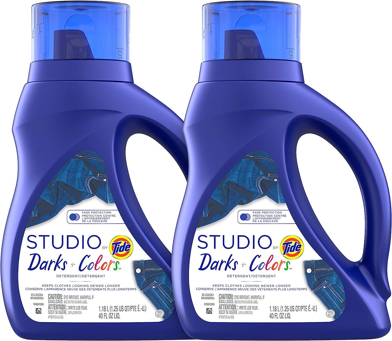 Tide Studio Liquid Laundry Detergent, 40 Fl Oz, Pack of 2