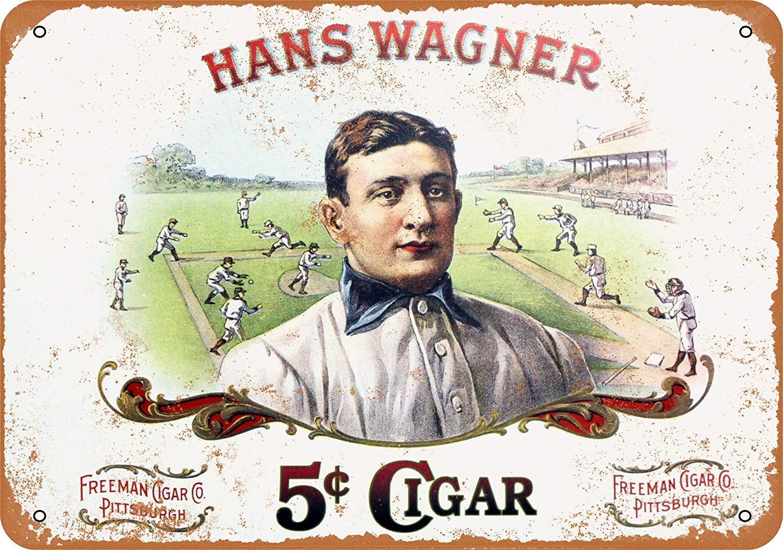 Toddrick Hans Wagner 5 Cent Cigars Cartel de Chapa Estilo ...