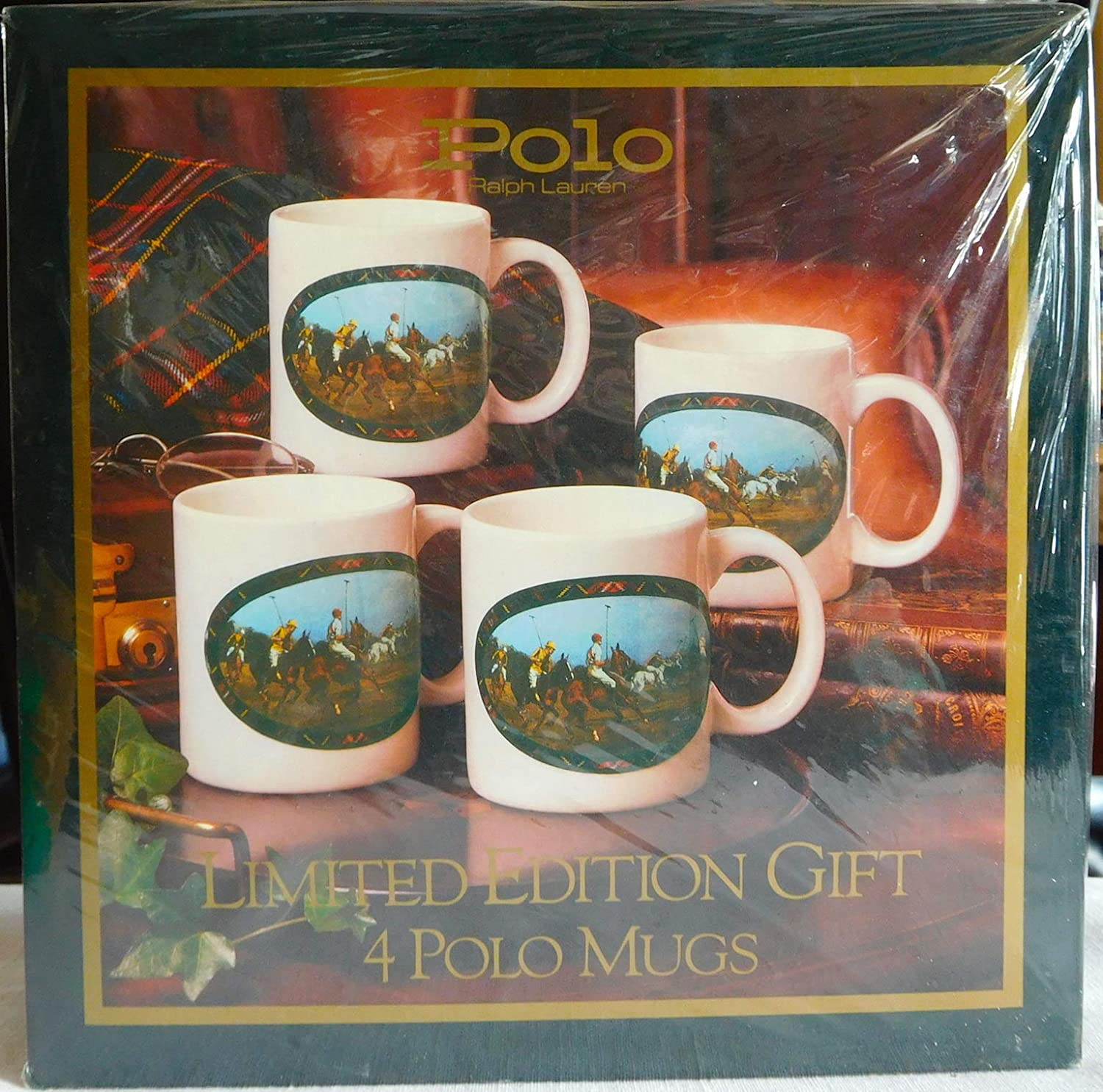 Set of 4 Limited Edition POLO Coffee Mugs in Collectors Box