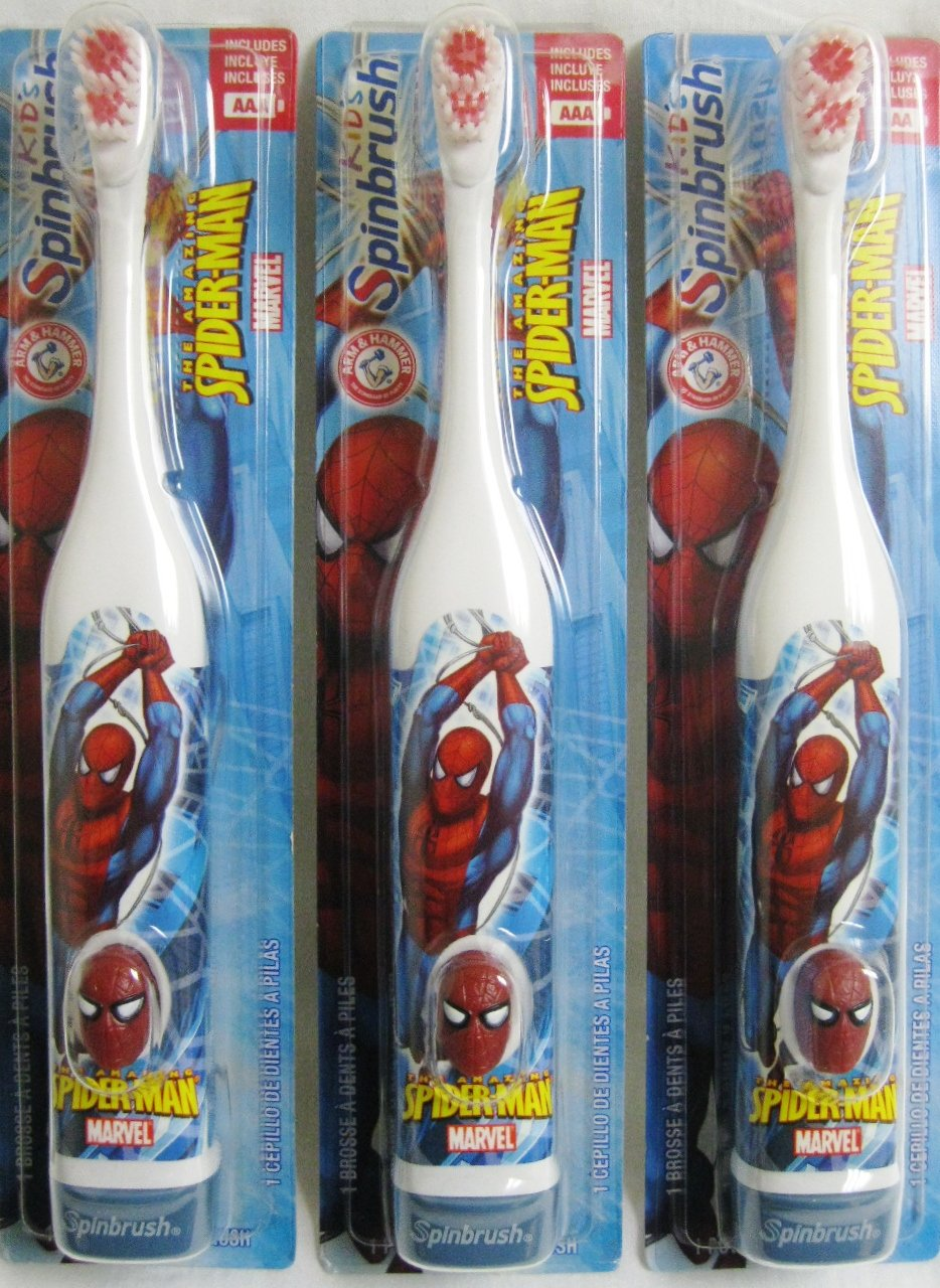 Amazon.com: Marvel Heroes Spider-Man (Spiderman / Spider Man) Crest SpinBrush: Health & Personal Care