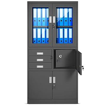 Ikea büroschrank zahlenschloss  Aktenschrank C018S Büroschrank Metallschrank Tresor Safe Geheimfach ...