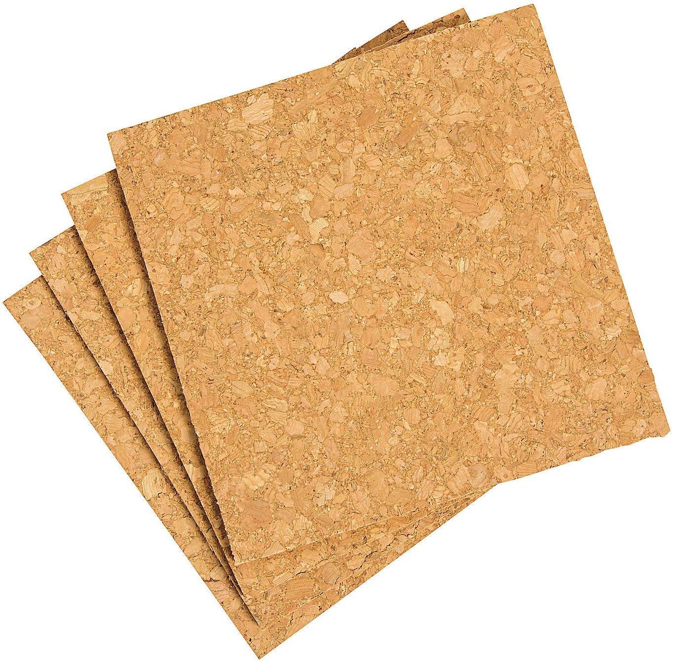 WIDGETCO 1//8 x 6 Cork Squares 6 Pack