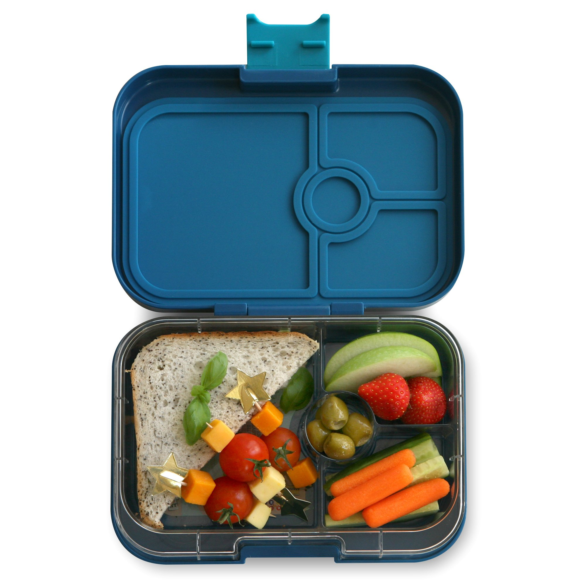YUMBOX Panino (Empire Blue) Leakproof Bento Lunch Box Container for Kids & Adults; Bento-style snack box offers Durable, Leak-proof, On-the-go Meal and Snack Packing by Yumbox