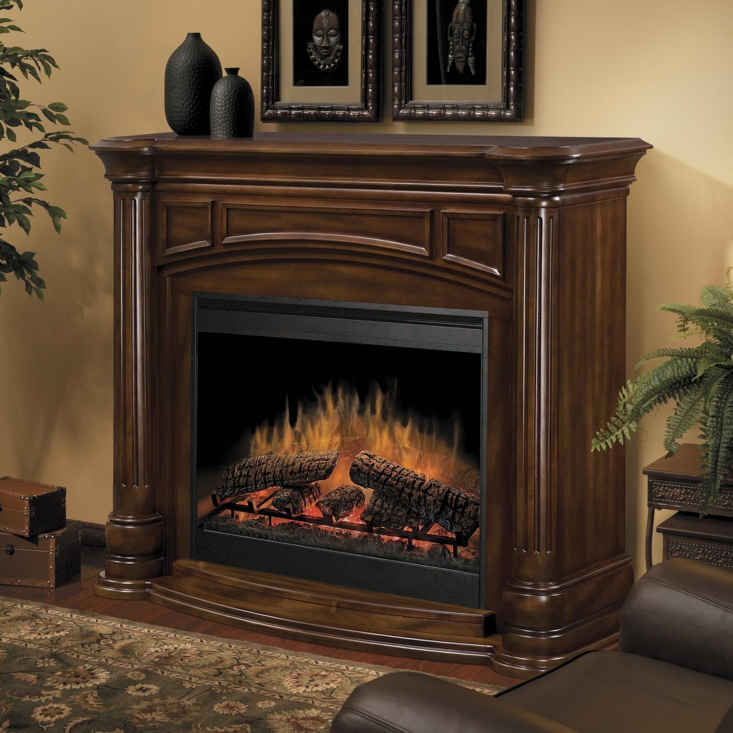 heaters insert fireplace air flame burner warm electric remote item heating optical artificial controlled blower