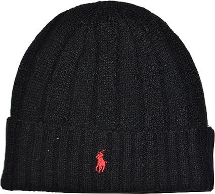 Polo Ralph Lauren Pony de lana de invierno Logo Gorro: Amazon.es ...