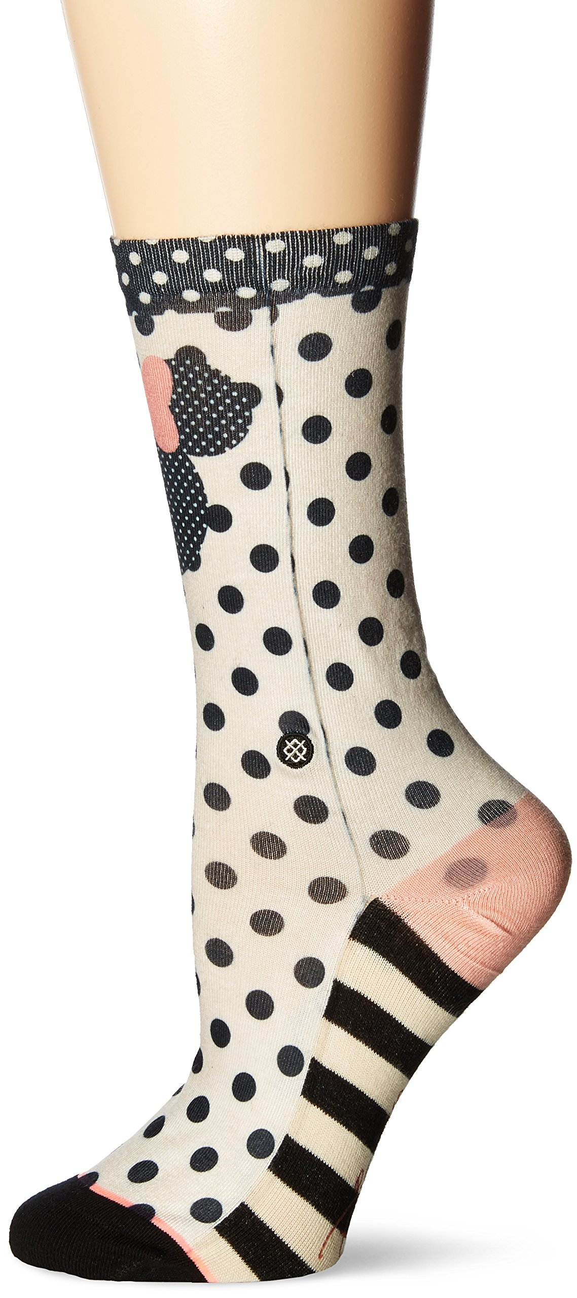 Stance Women's Sprinkled Minnie Mouse Crew Sock, Black, Medium by Stance