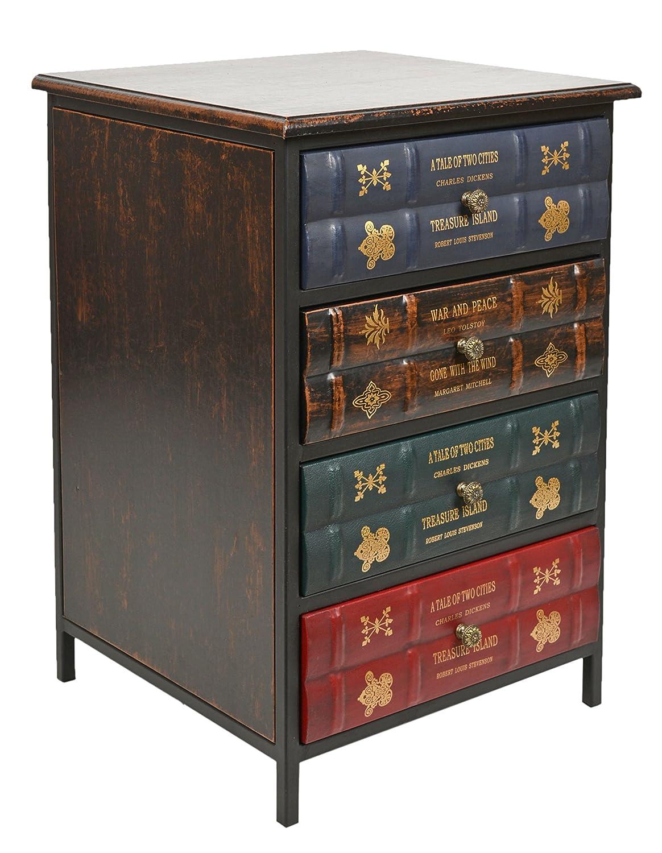 Commode en book look-tournure de livres antiques - British style -vintage-antique 43 x 63 cm