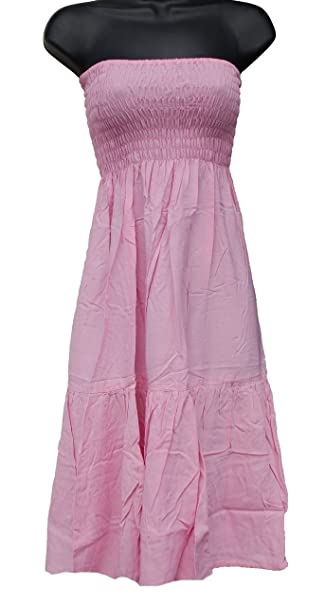 f5a6006ab86 One-Size 2-in-1 Sundress Skirt Cover-up Shirred Top - Excellent ...