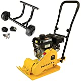 MS60 Plate Compactor with 6.5hp Loncin Engine, With Wheel Assembly Kit