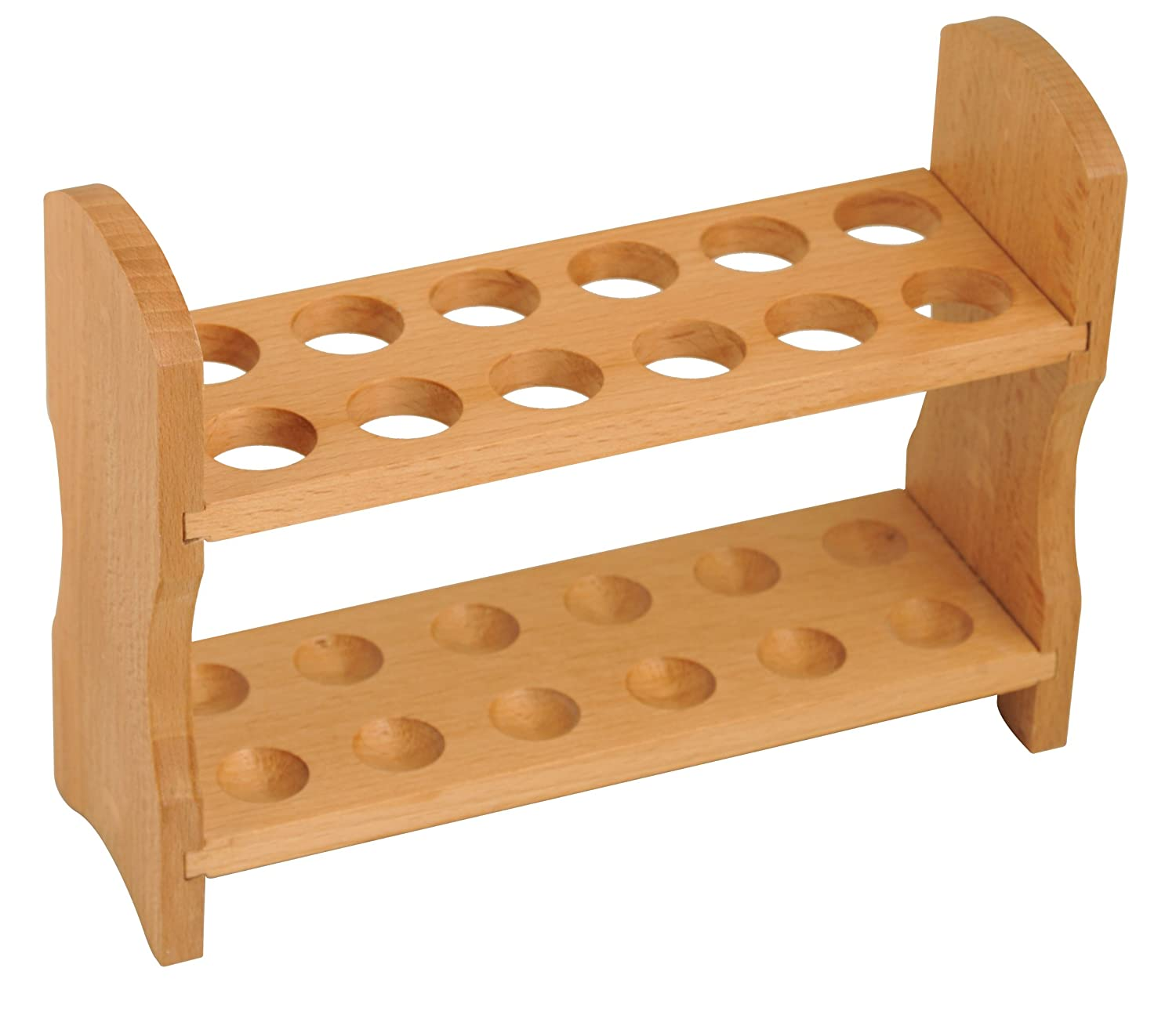 Wood Test Tube Rack 12 Tube Capacity, 7/8